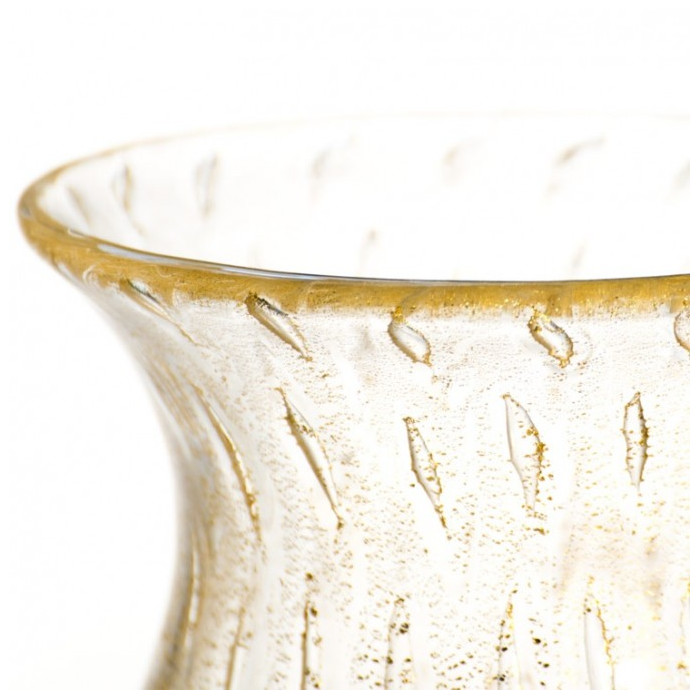vase murano gold leaf