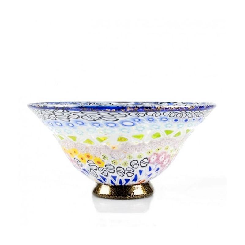 Murano Glass Colorful Murrine Classic Bowl
