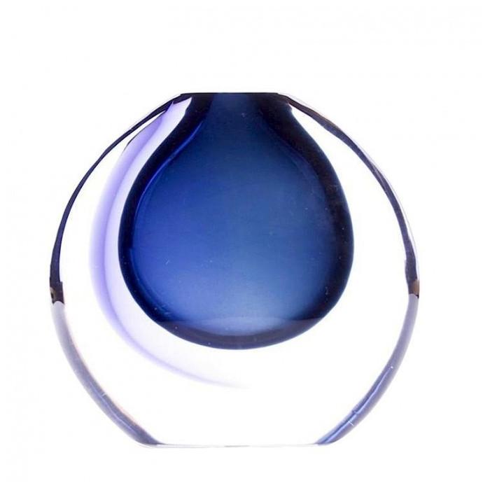 Venetian vase blue sommerso